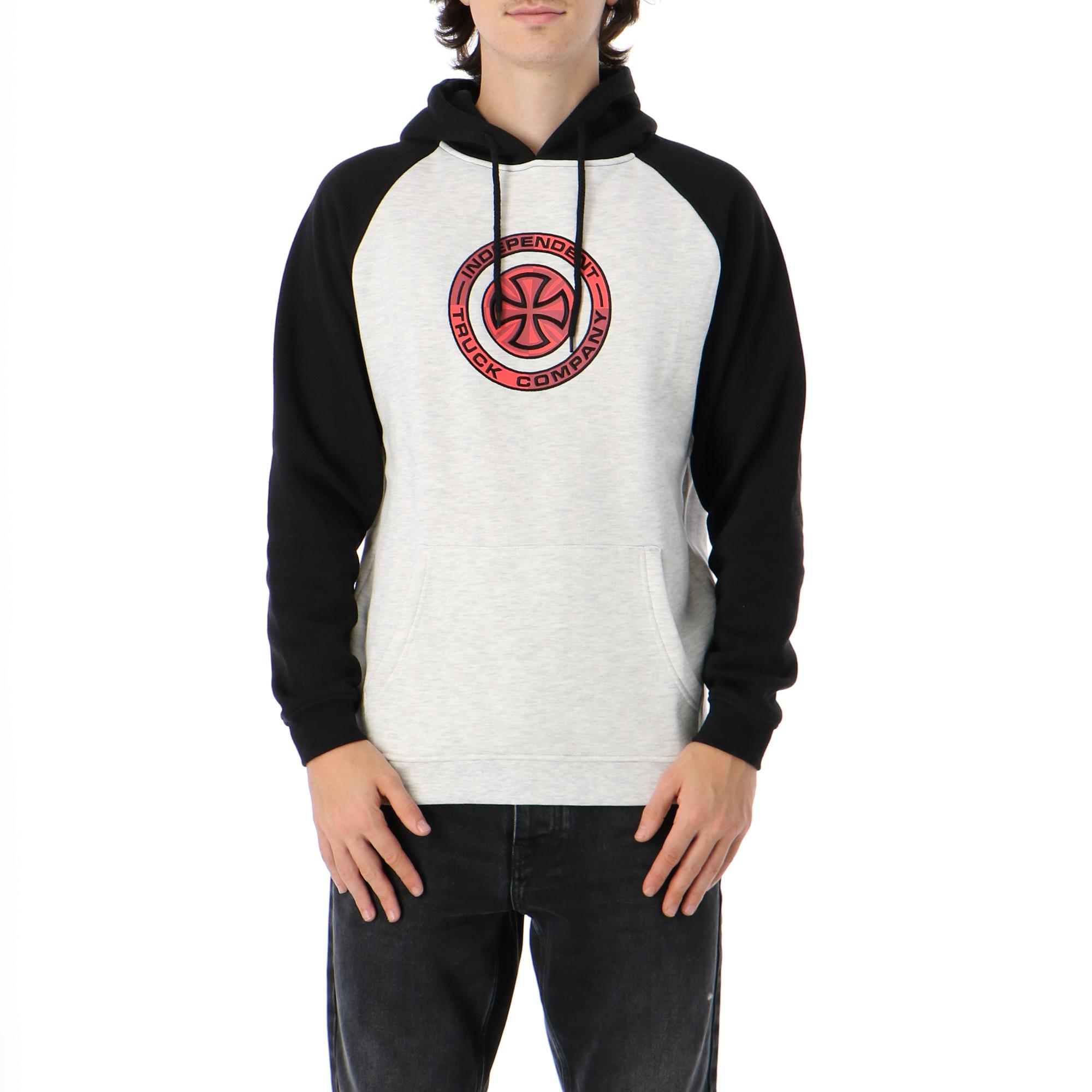 Independent Target Raglan Hood Black athletic heather