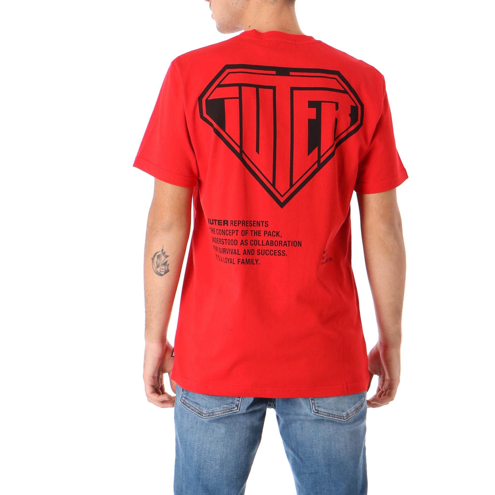 Iuter Double Logo Tee RED