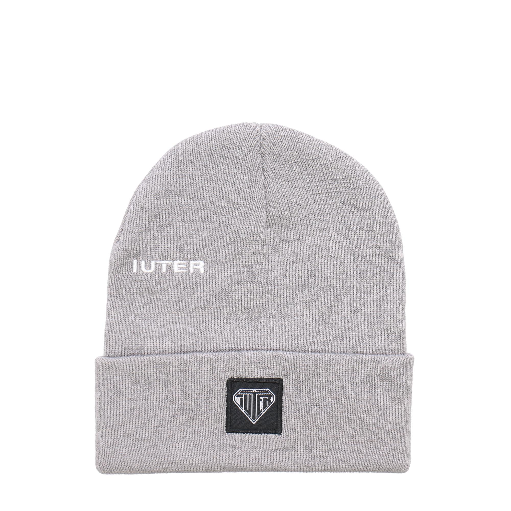 Iuter Logo Fold Beanie GREY