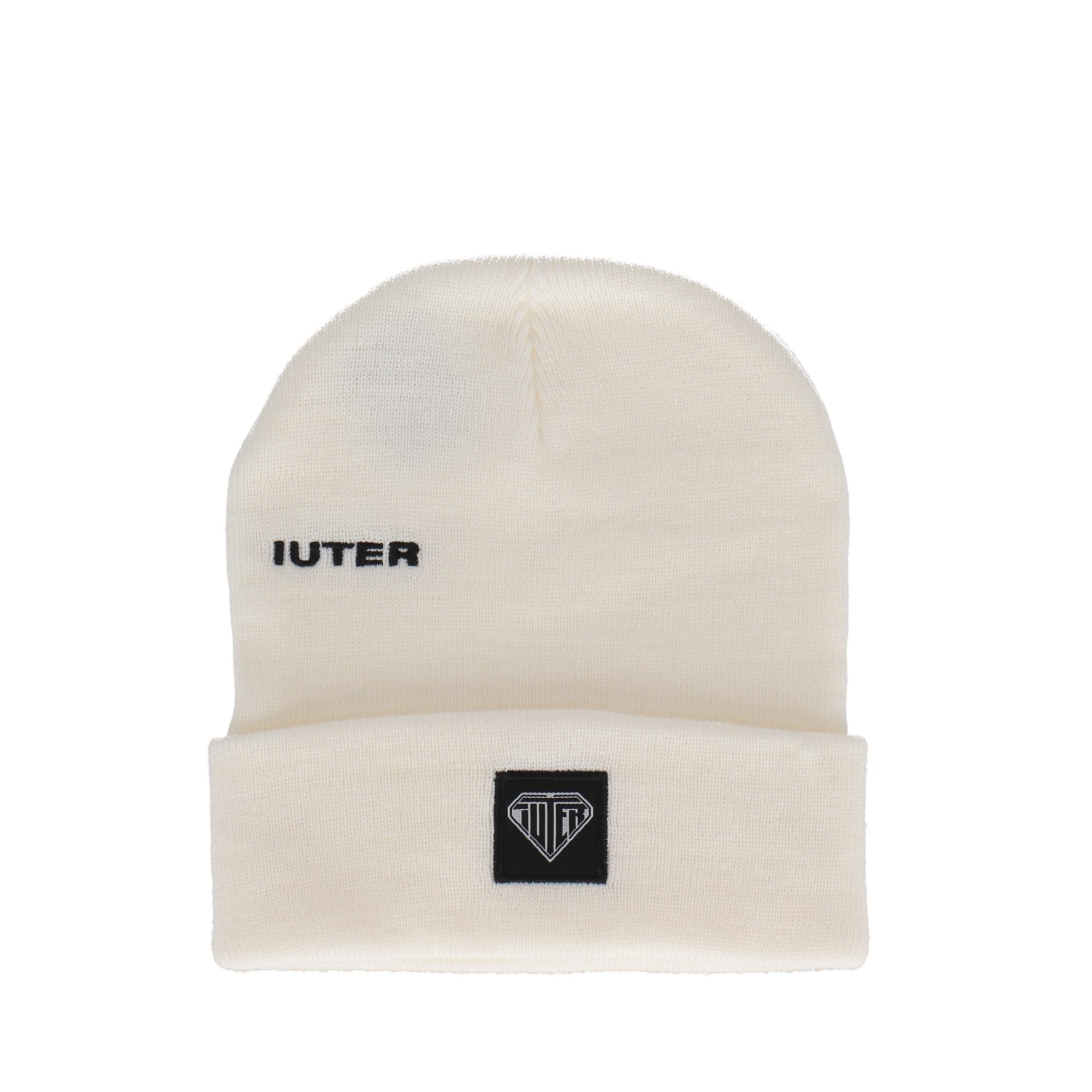 Iuter Logo Fold Beanie WHITE