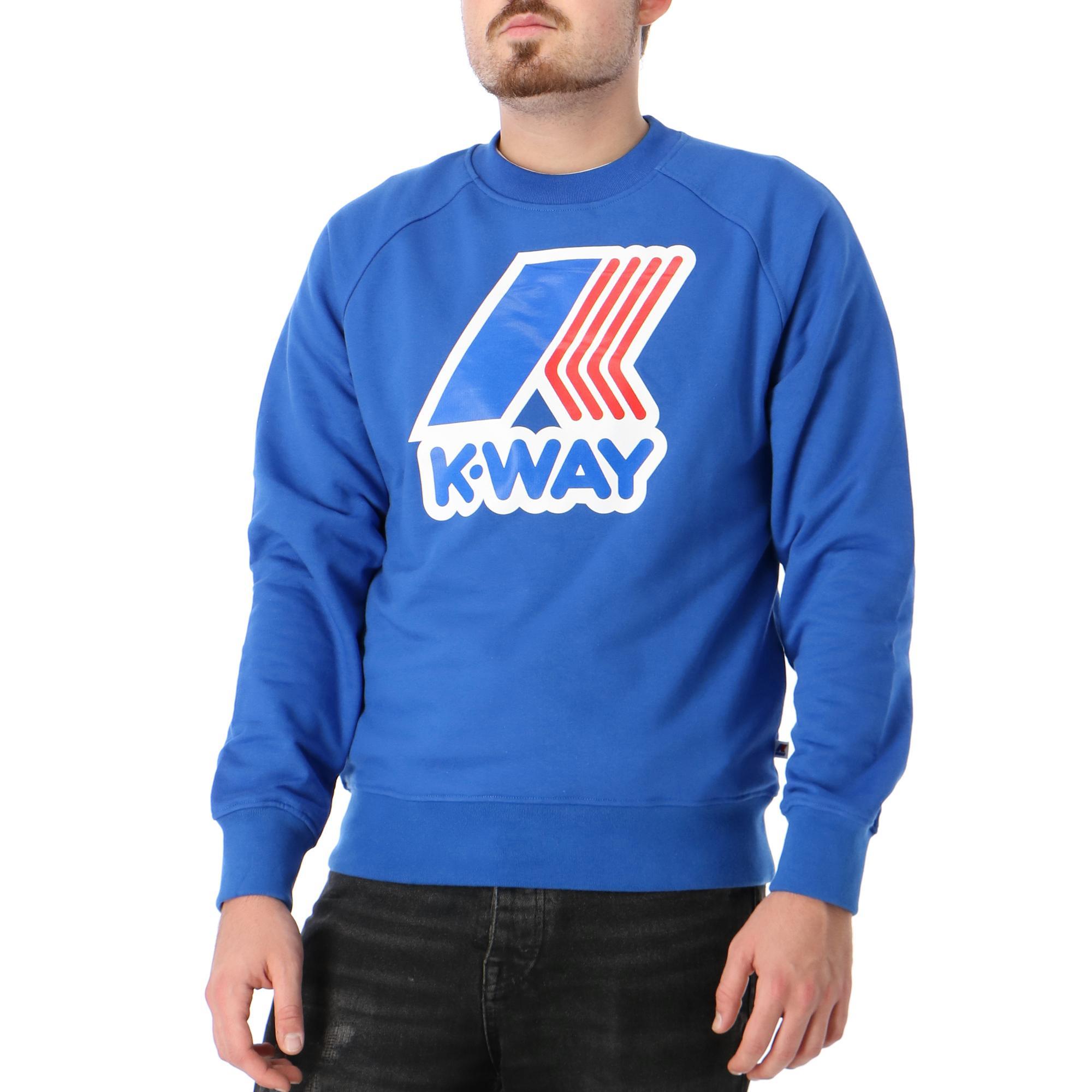 K-way Emanuel Macro Logo Blue lapis