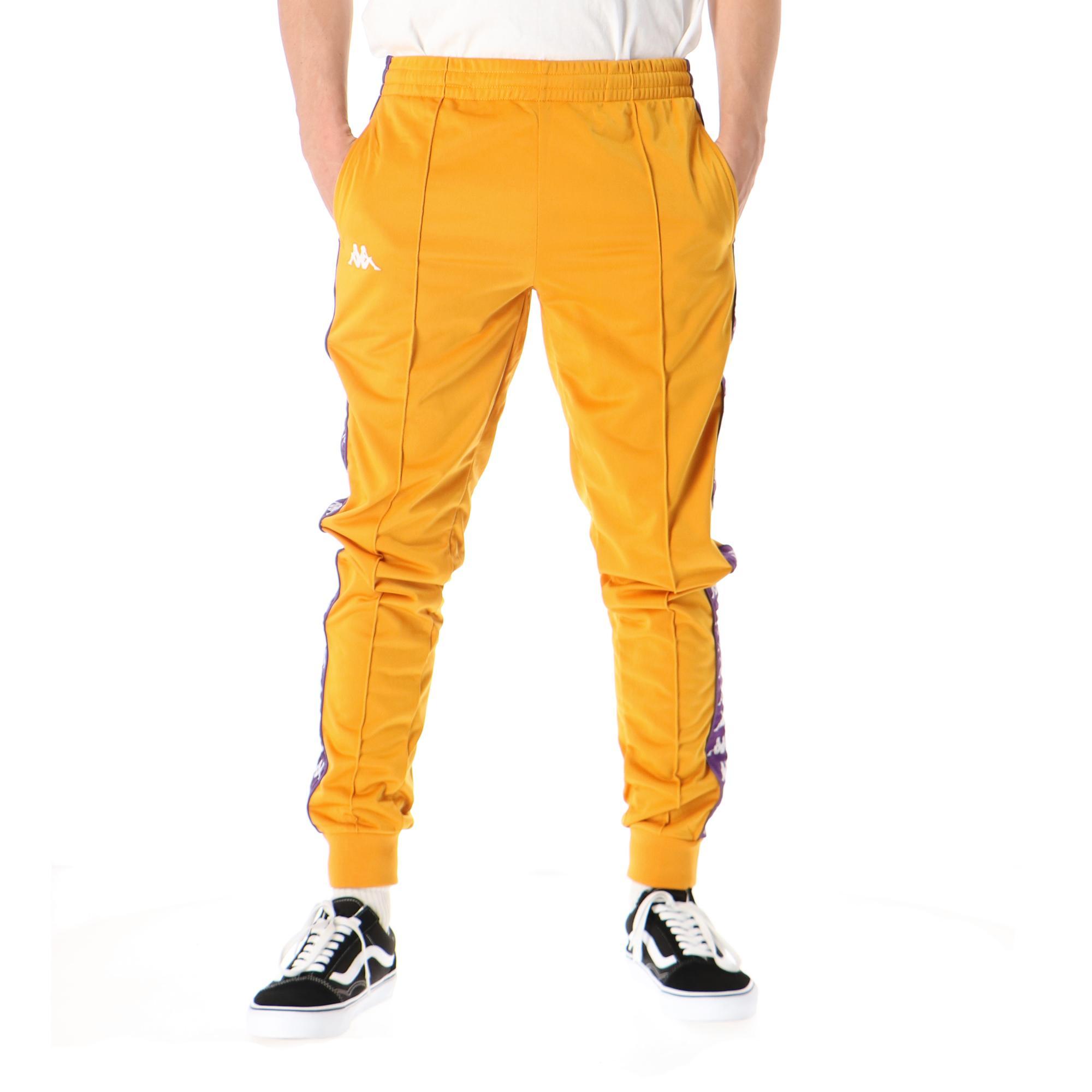 Kappa 222 Banda Rastoria Slim Yellow ochre violet white