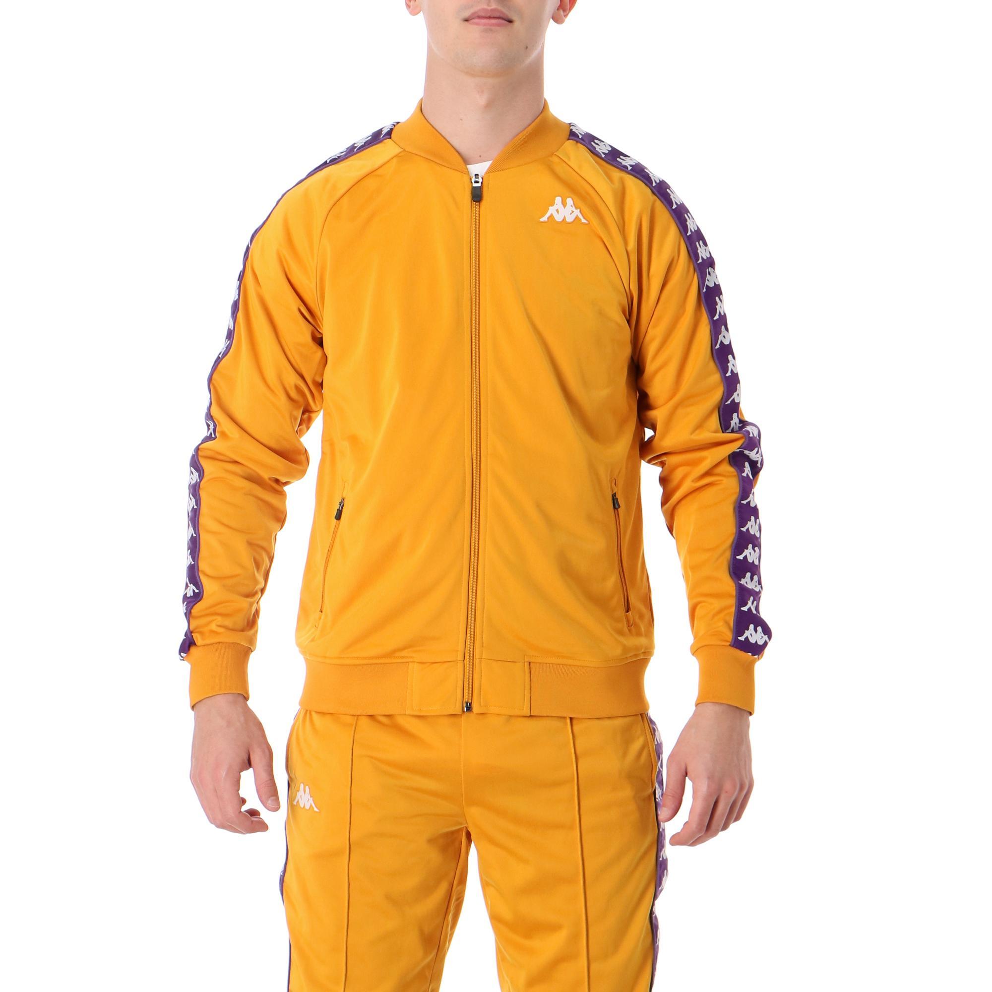Kappa 222 Banda Bomber Slim Yellow ochre violet white