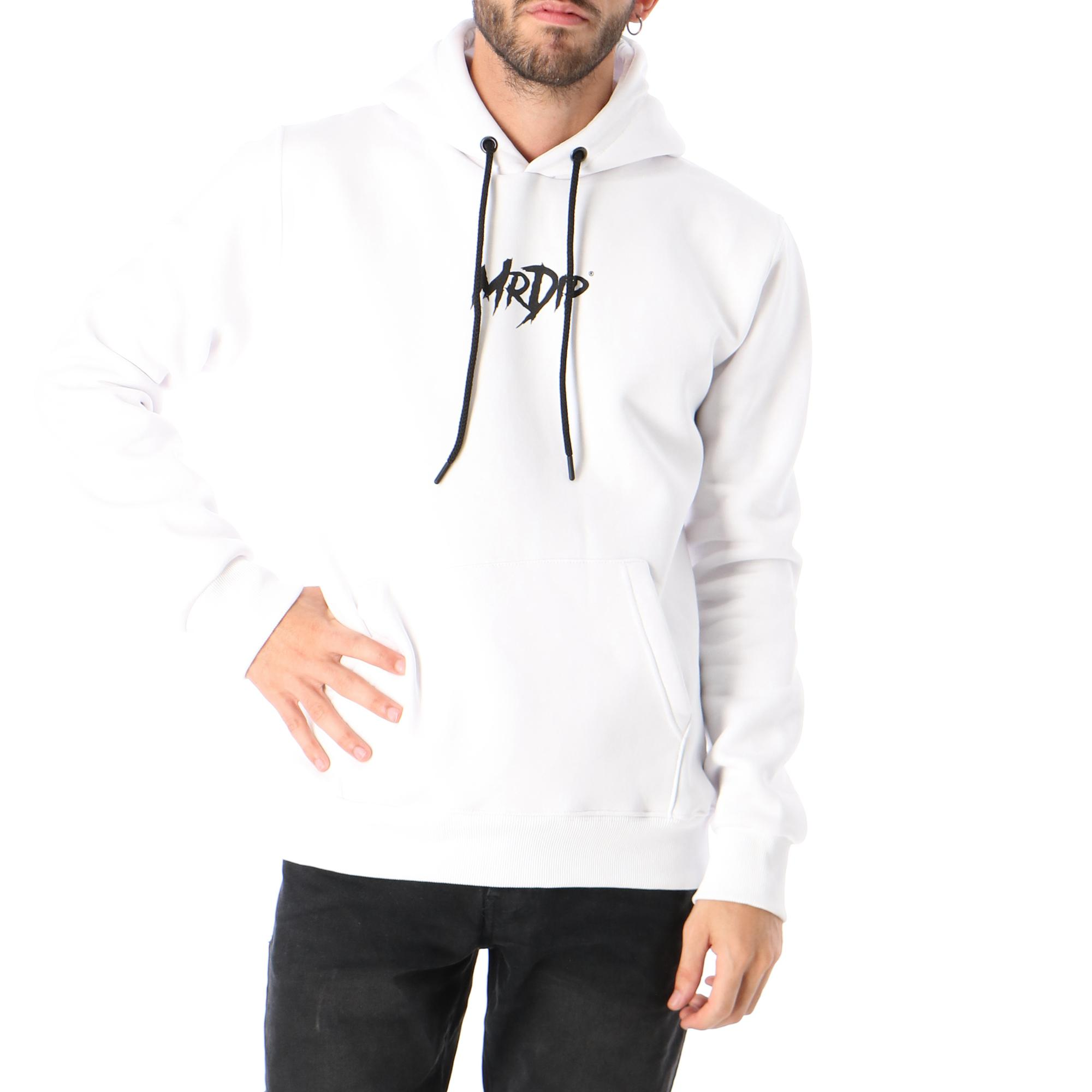 Mr. Dip Basic Logo Hood White black