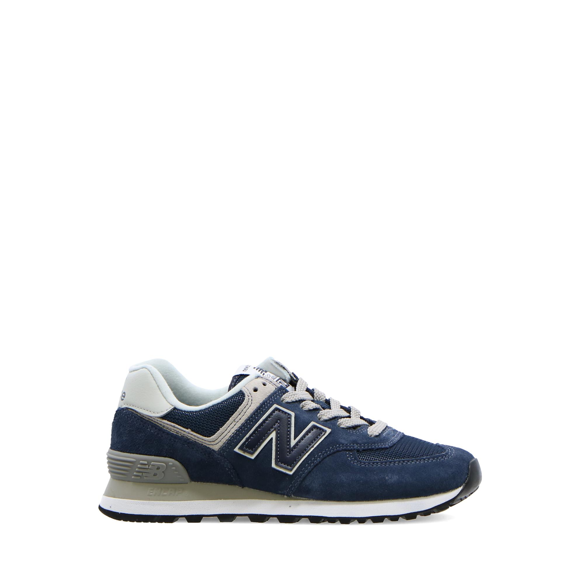New Balance 574 Metallic Leather NAVY