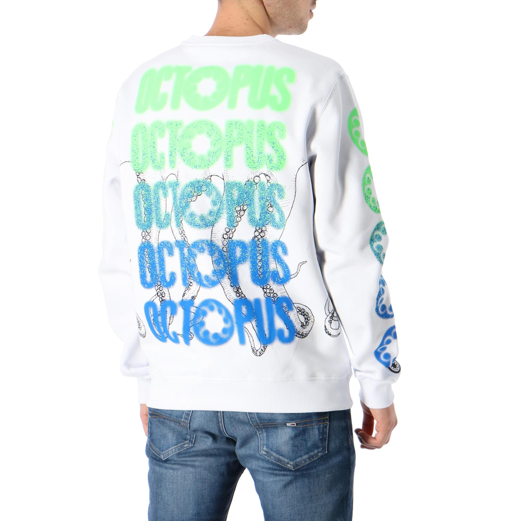 Octopus Blurred Crew WHITE