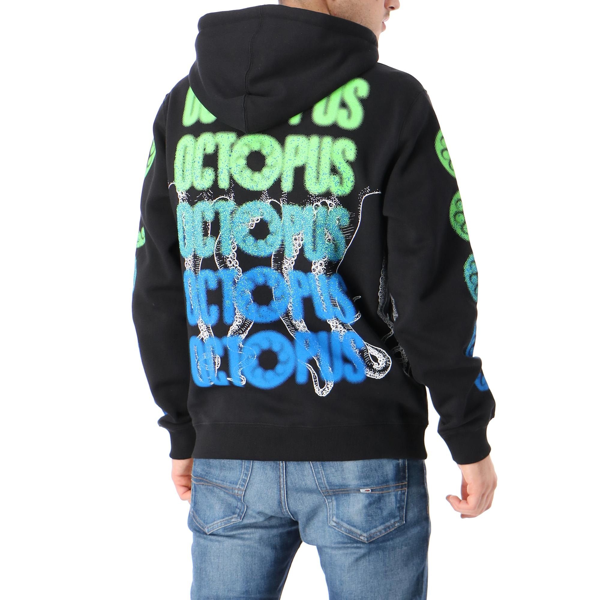Octopus Blurred Crew Black