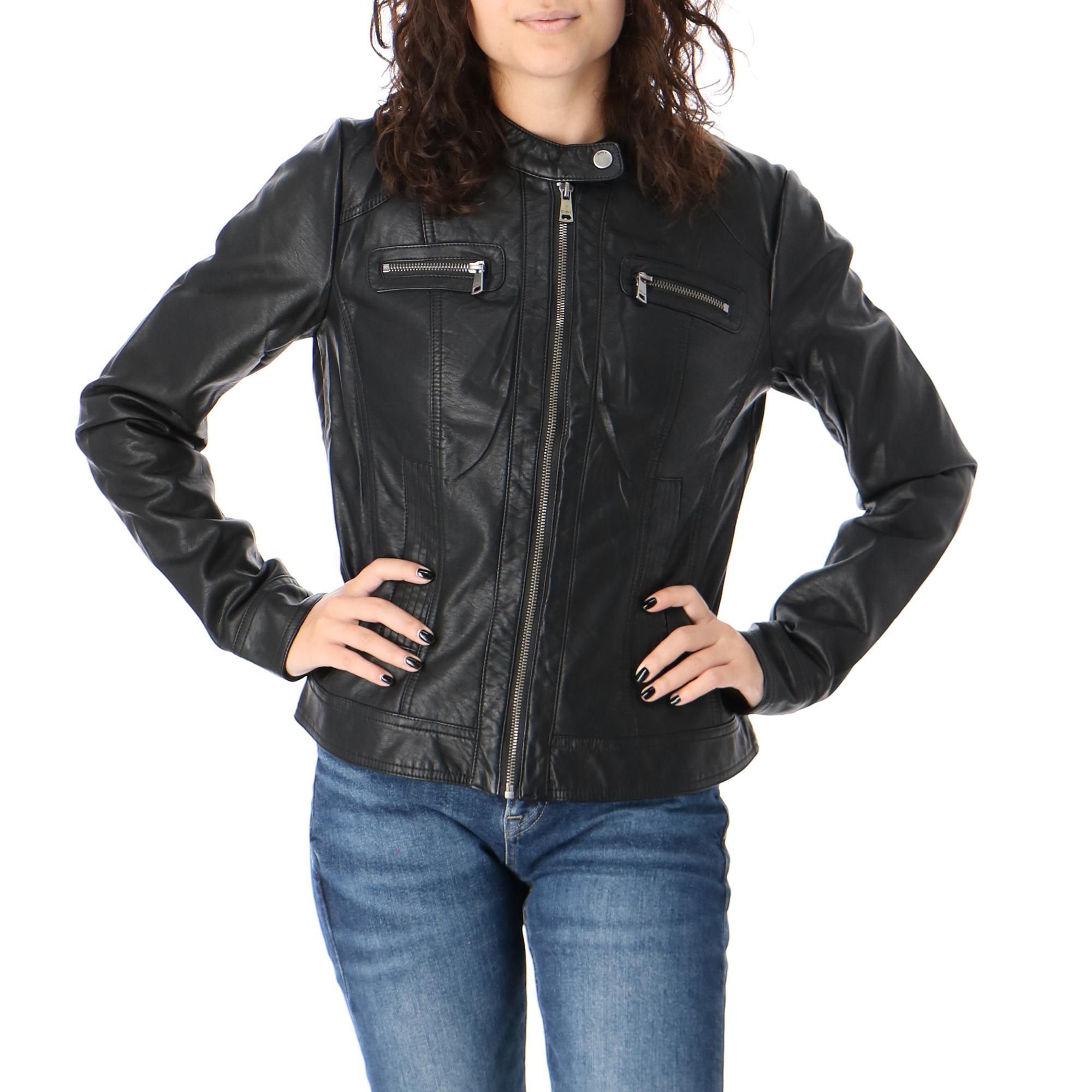 Only Bandit Faux Leather Biker Otw Noos Black