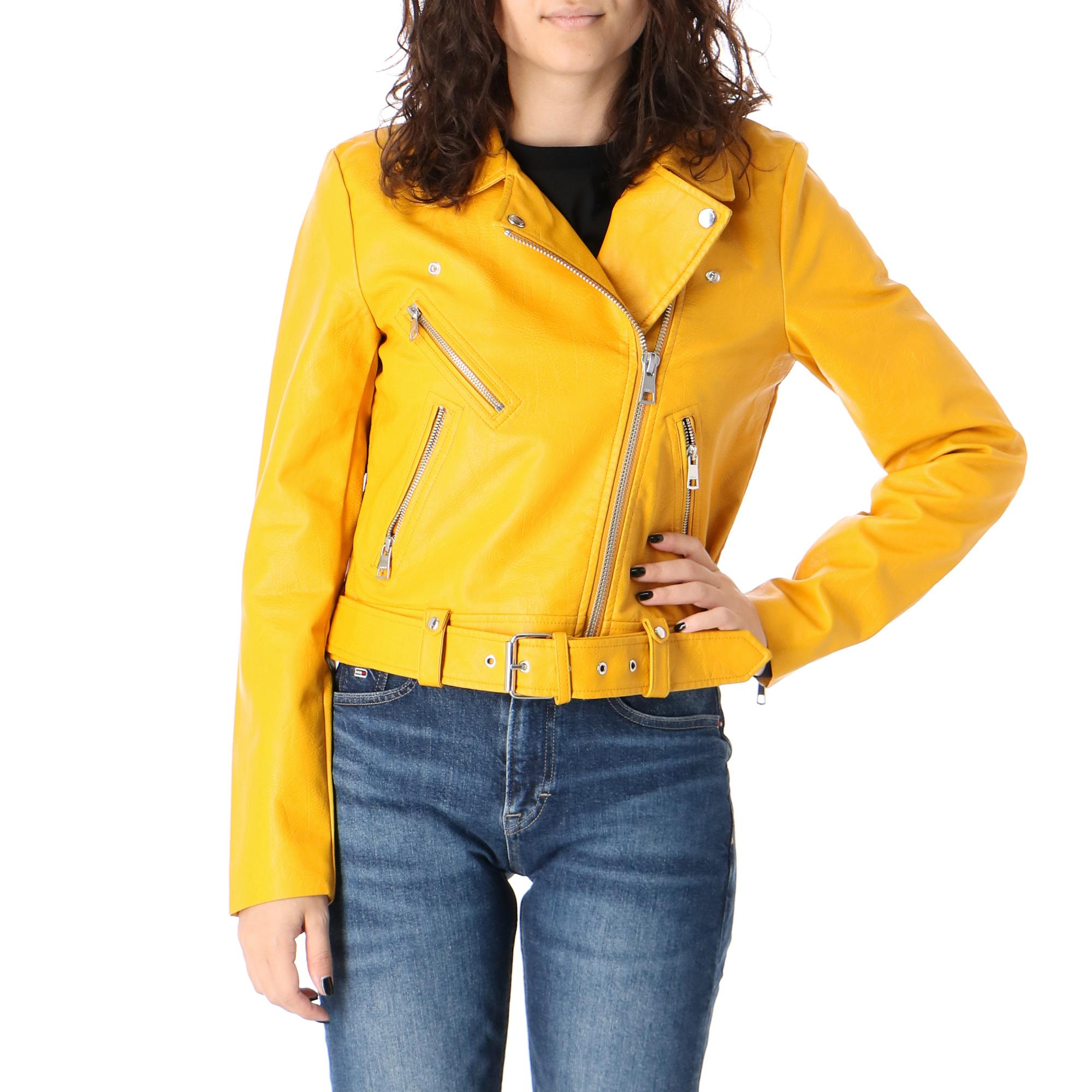 Only Valerie Faux Leather Jacket Cc Otw<br/> Golden yellow