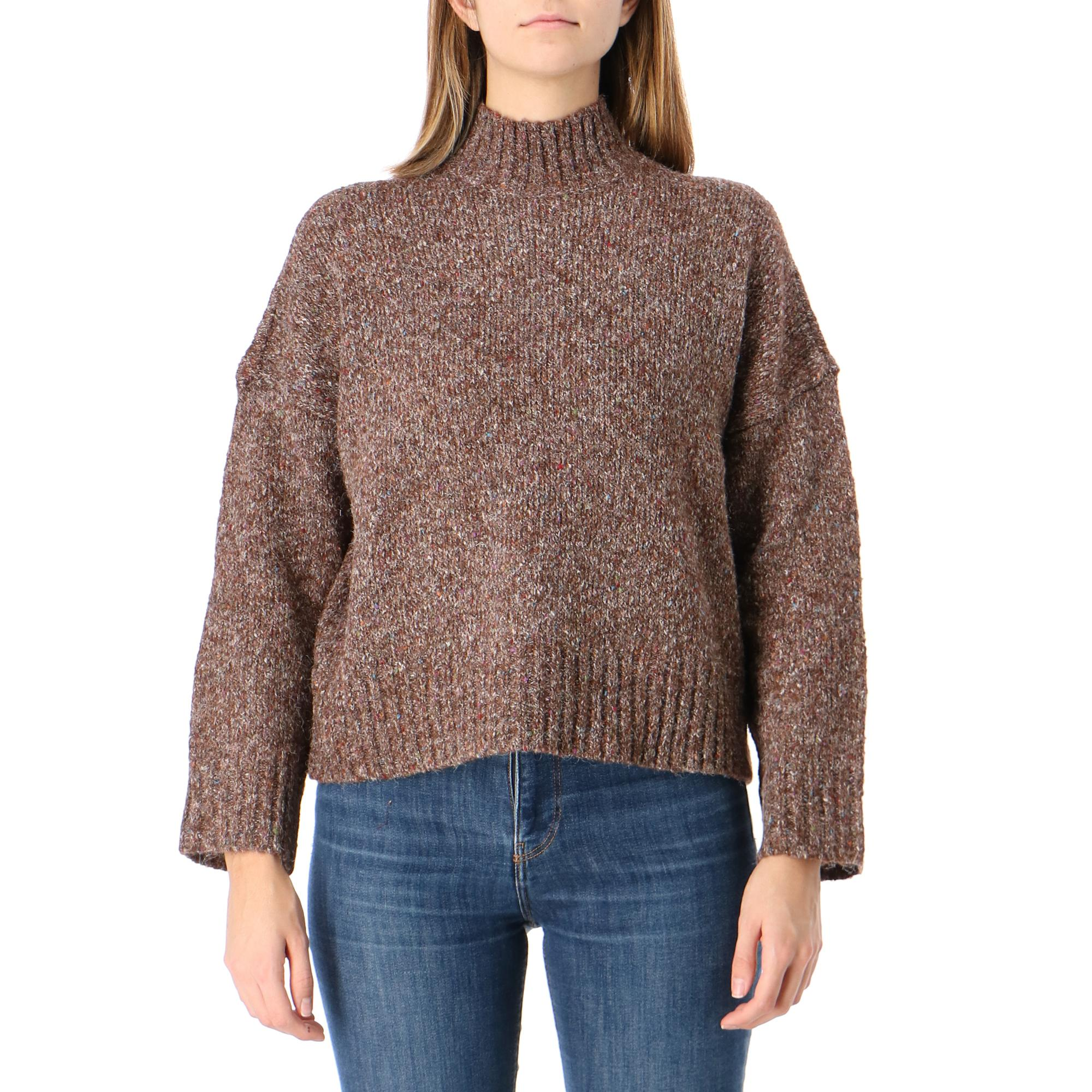 Only Onltata L/s Pullove Cc Knit Chicory coffee