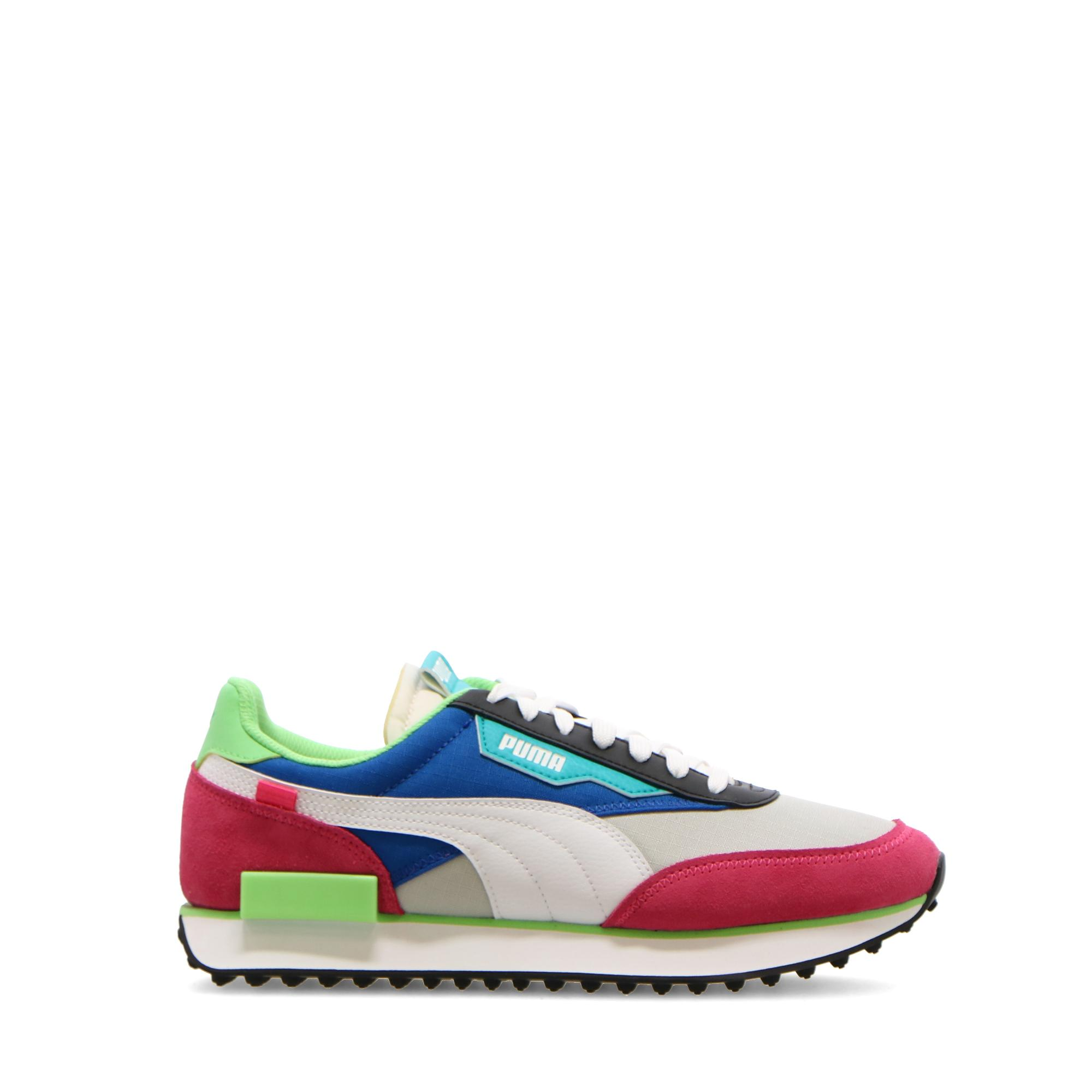 Puma Future Rider Play On Glowing pink lapis blue green