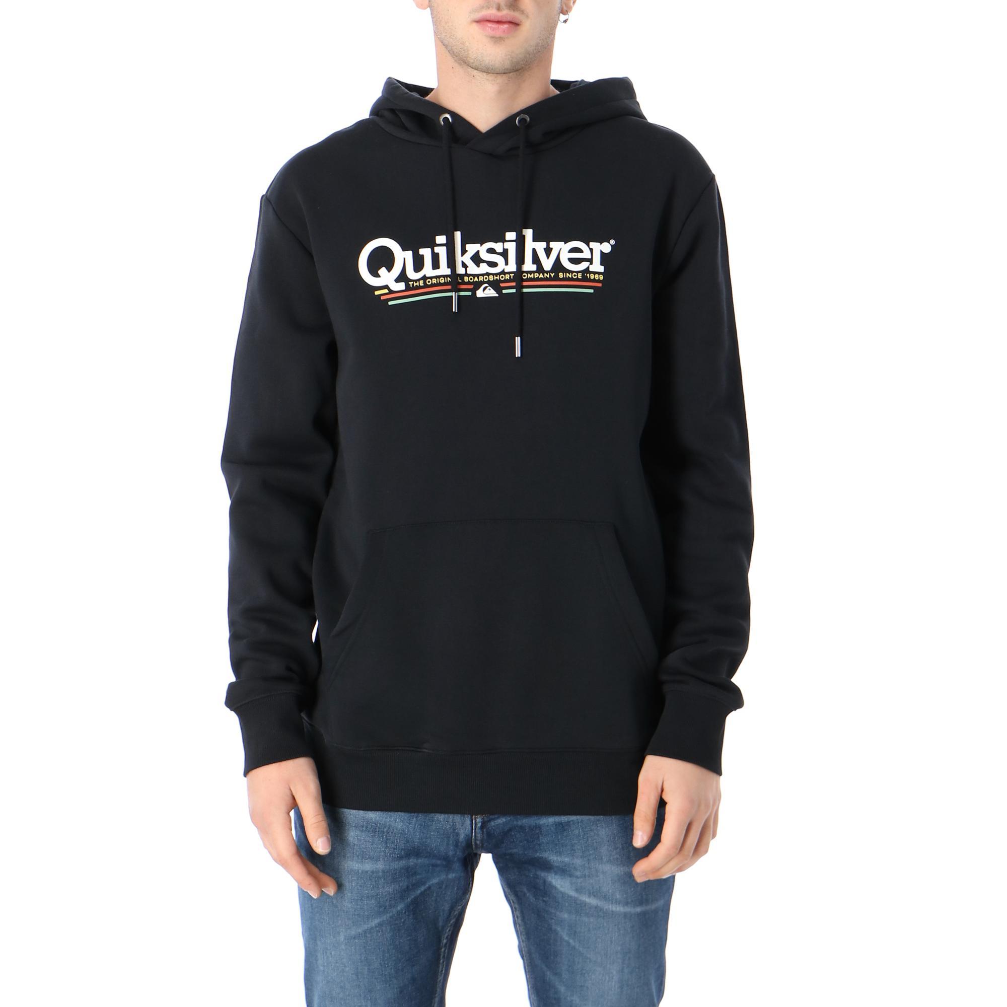 Quiksilver Tropical Lines Screen Fleece<br/><br/> <br/> Black