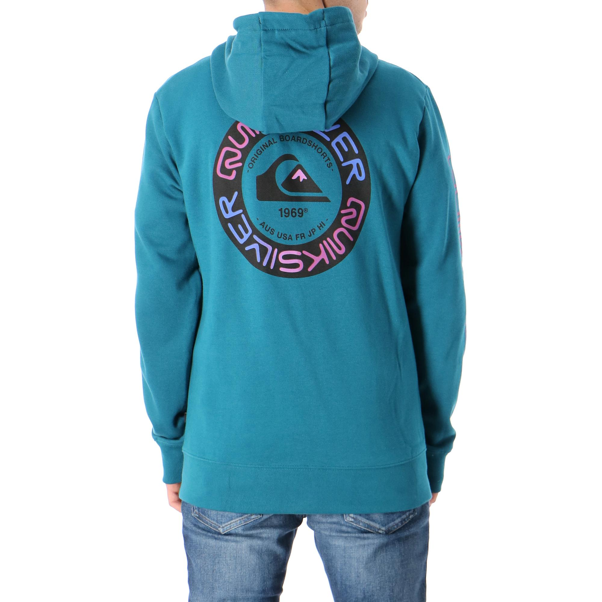 Quiksilver Time Circle Screen Fleece<br/><br/> <br/><br/> <br/> Blue coral