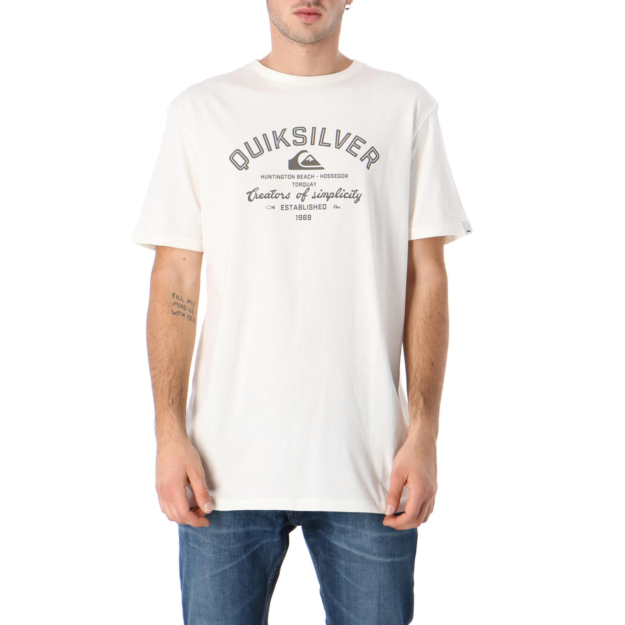 Quiksilver Creator Of Simplicity Ss 2 SNOW WHITE