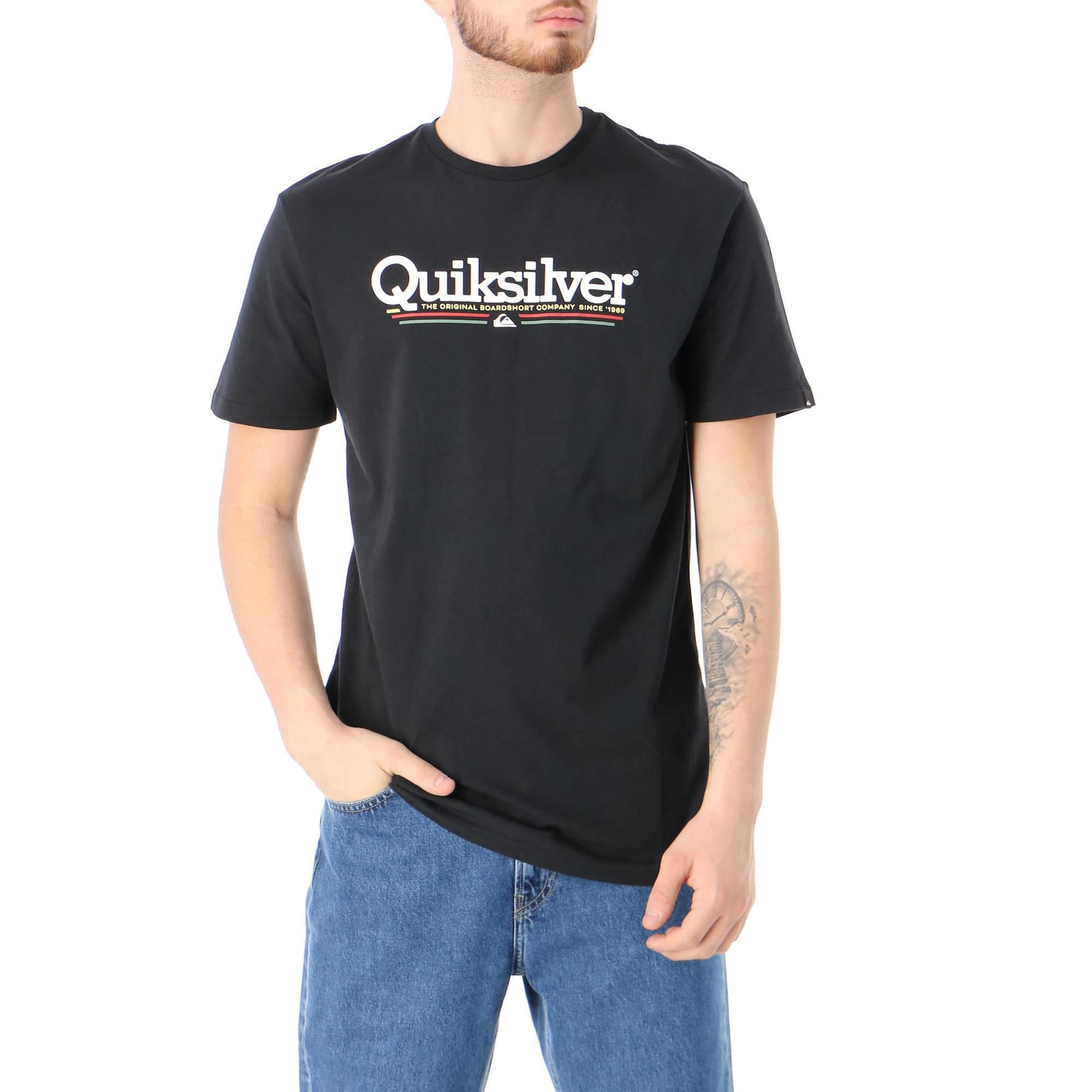 Quiksilver Tropical Lines Ss Black