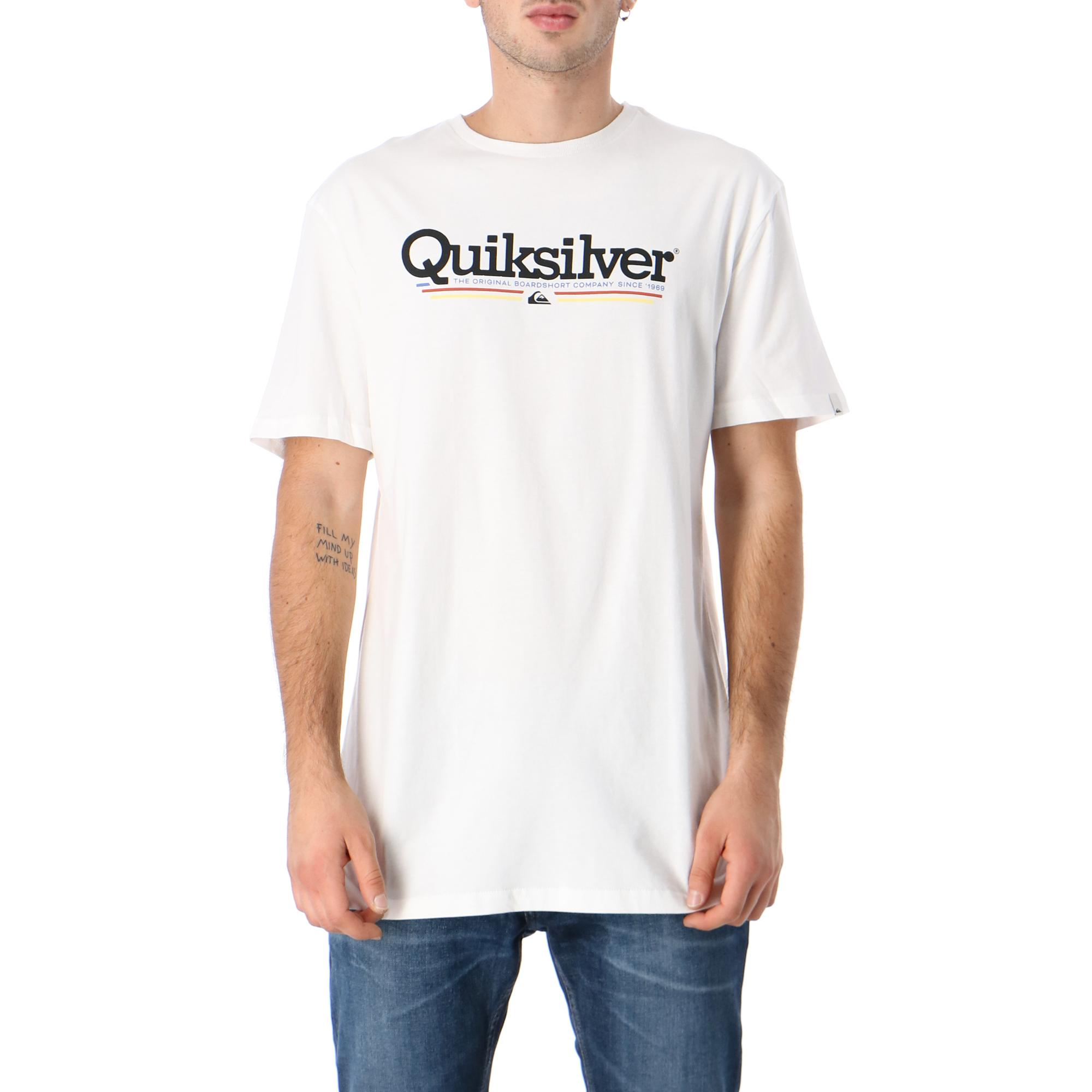 Quiksilver Tropical Lines Ss WHITE
