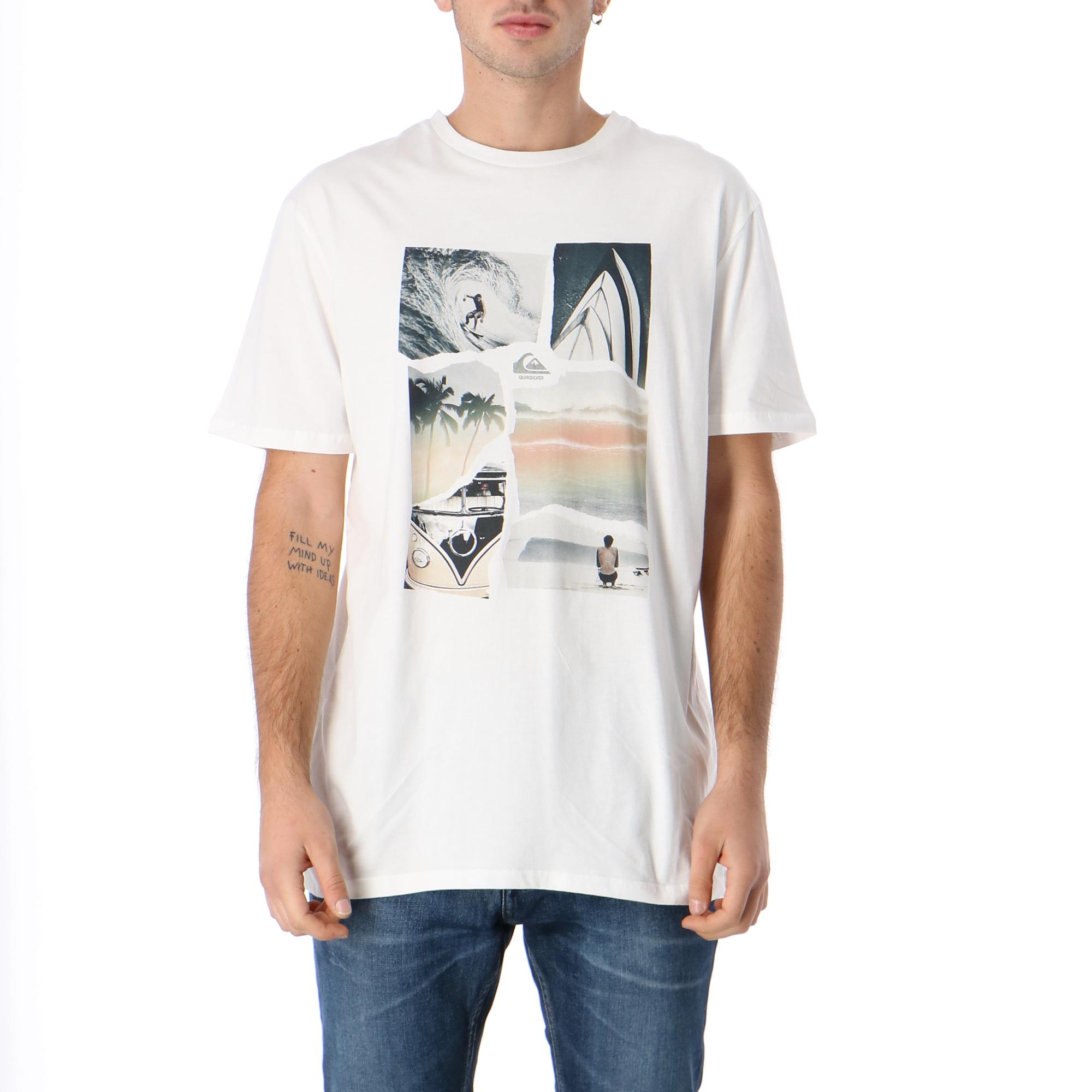 Quiksilver Torn Apart Ss<br/><br/> <br/> WHITE