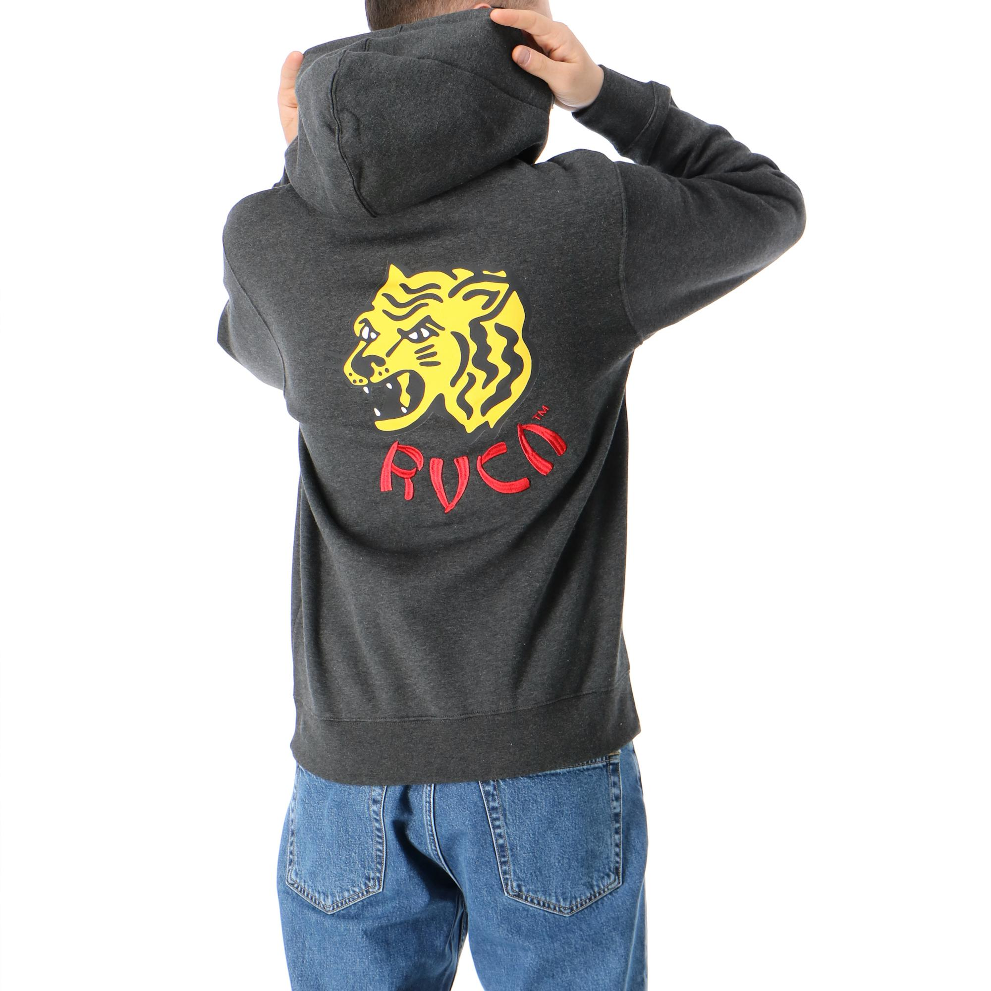 Rvca Dynasty Hoodie Charcoal heather