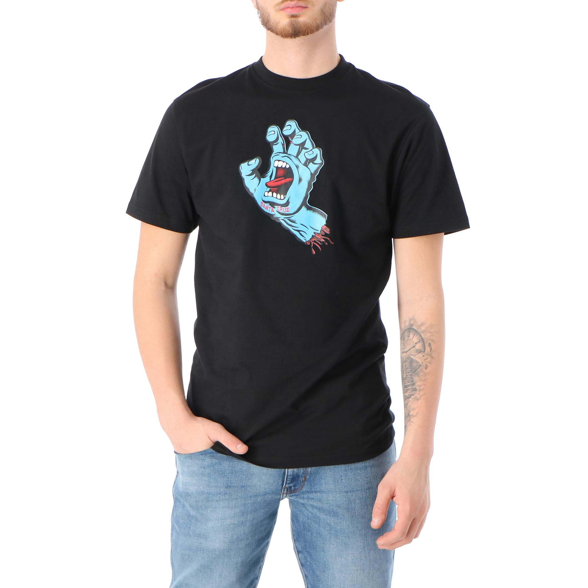 Santa Cruz Screaming Hand T Shirt Black