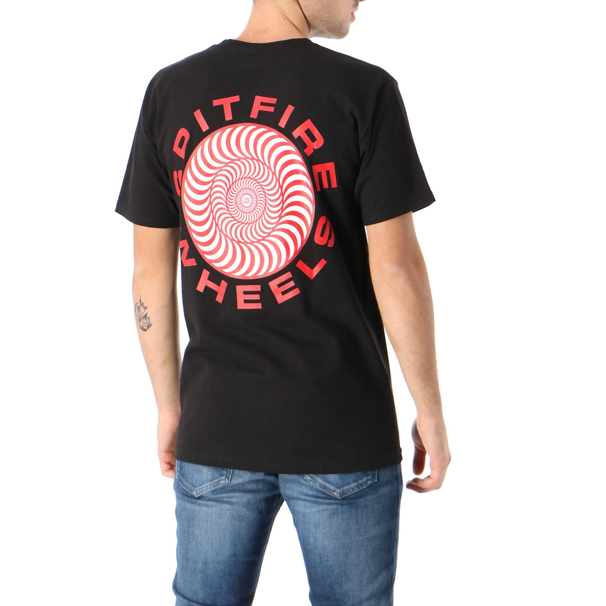 Spitfire Classic 87 Swirl Tee Black red white prints