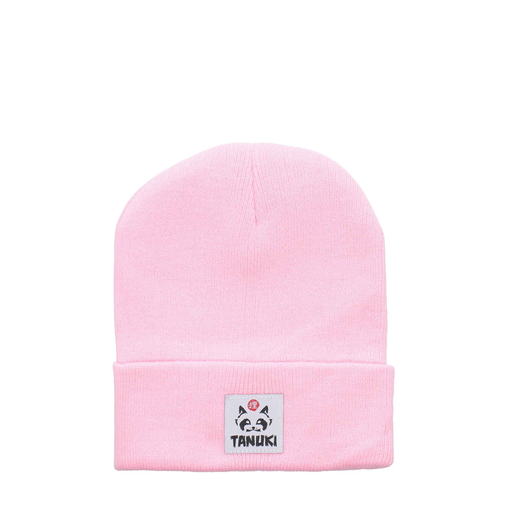Tanuki Beanie Pastel pink
