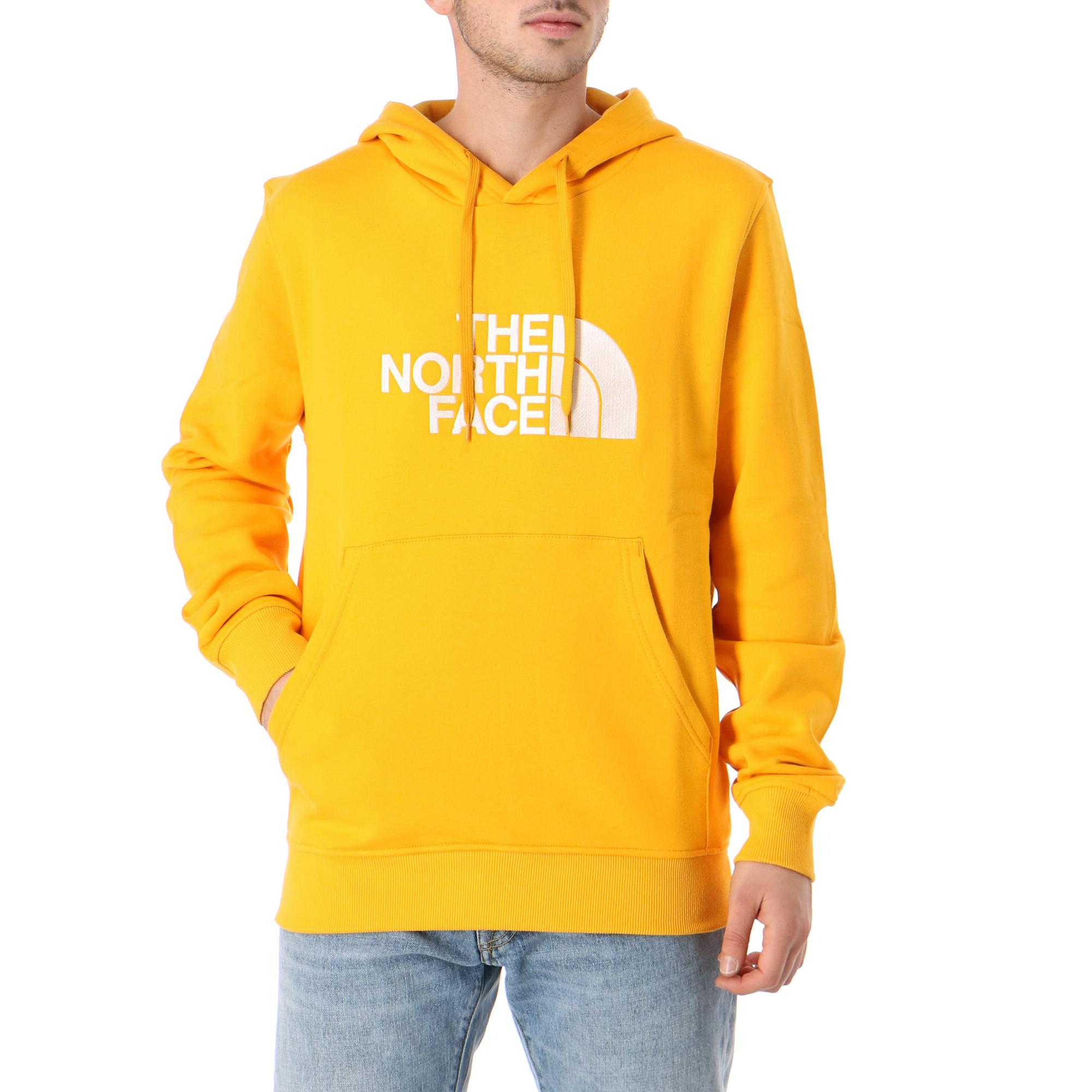 The North Face M Drew Peak Pullover Hoodie Summit gold tnf white