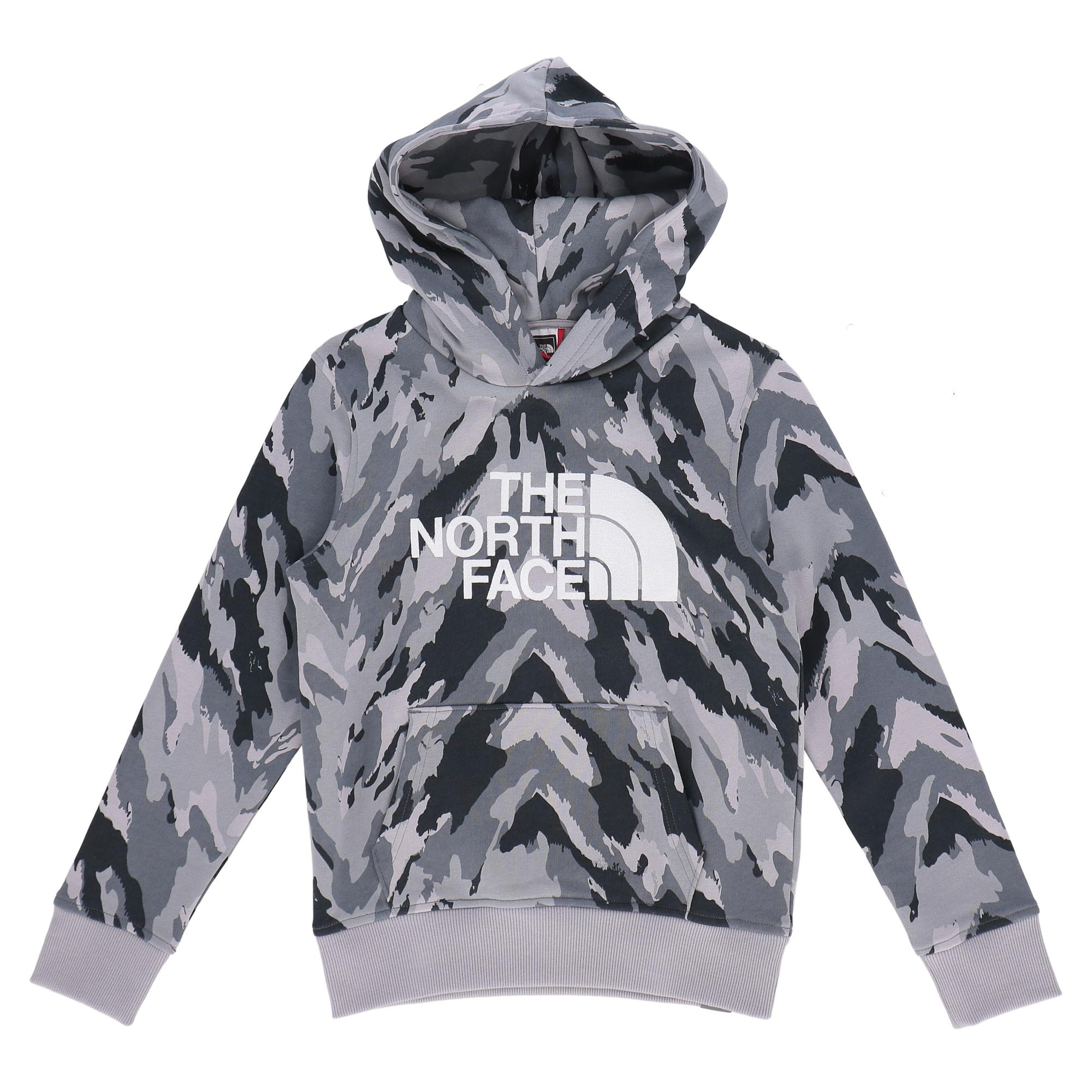 The North Face Drew Peak Po Hdy Meld grey mountain camo print
