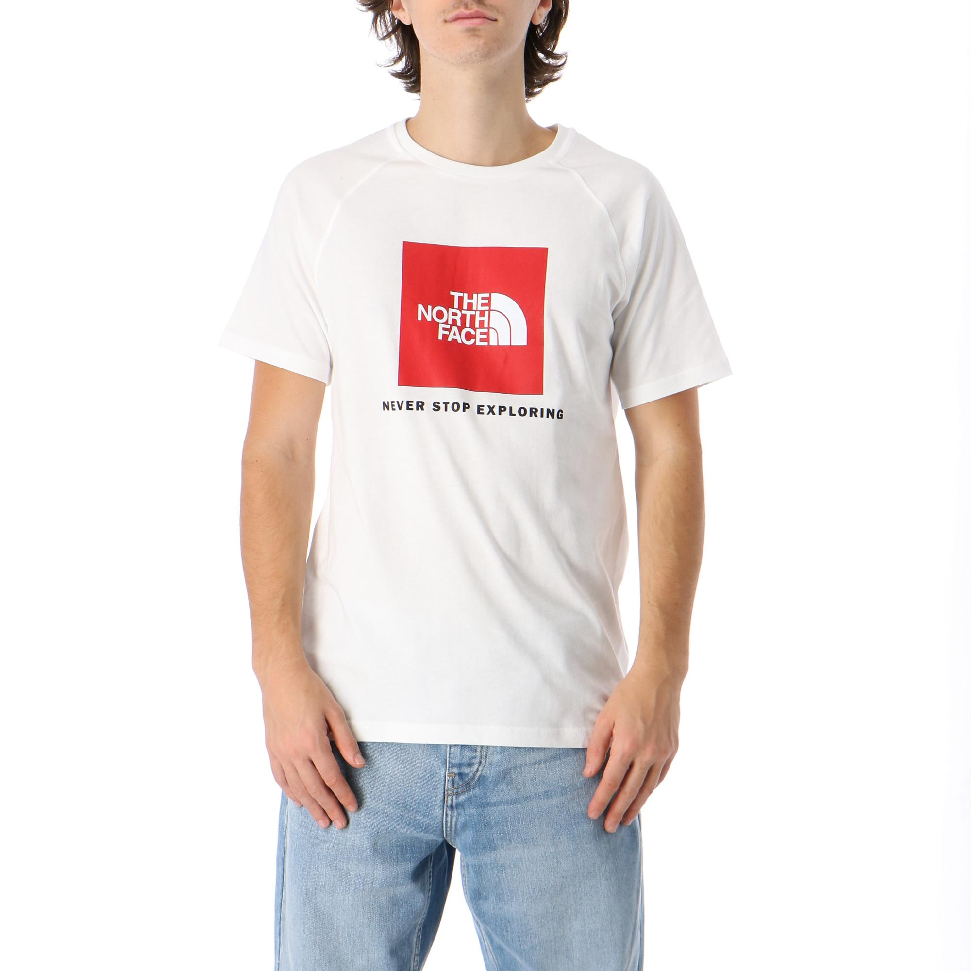 The North Face M S/s Rag Red Box Tee Tnf white tnf red