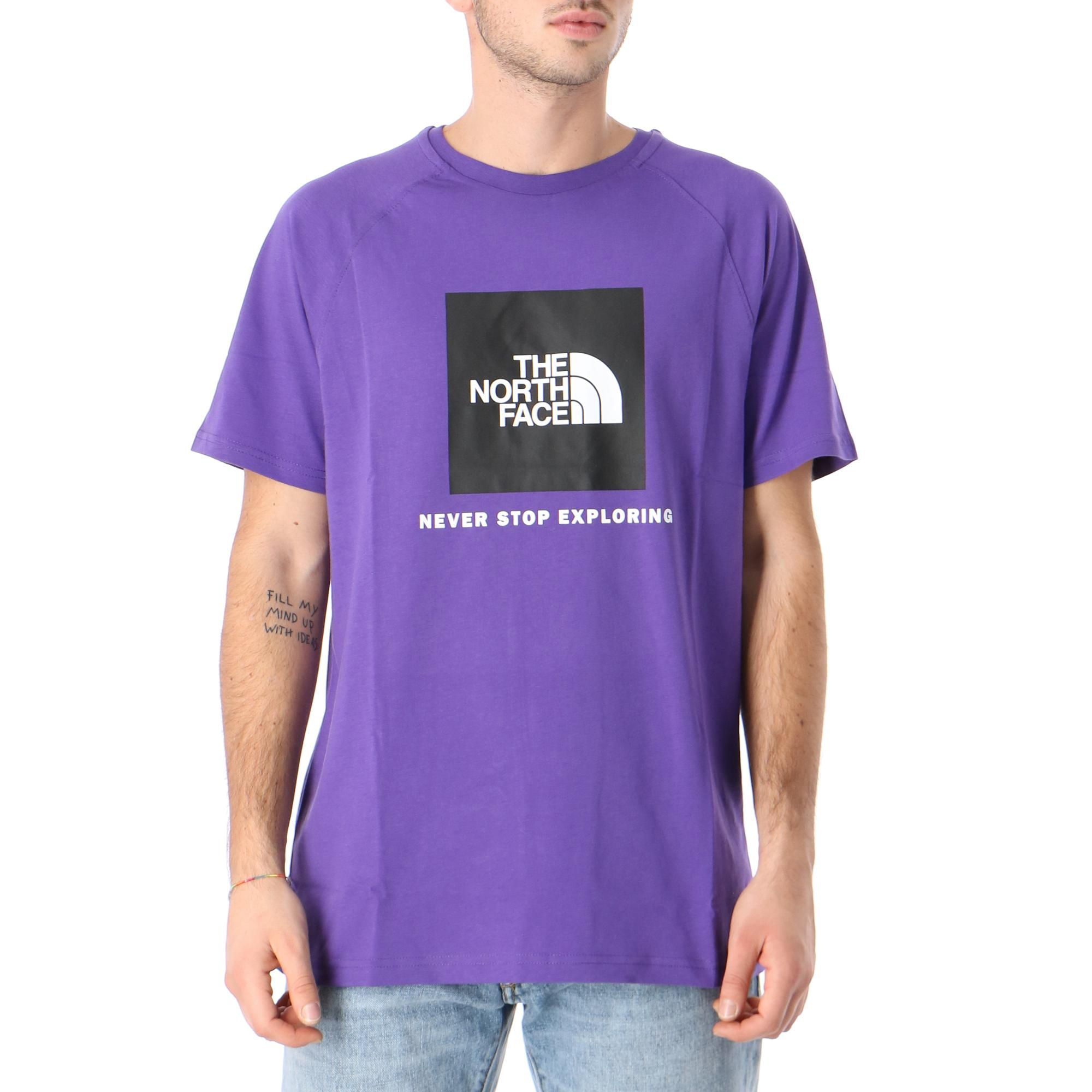 The North Face M S/s Rag Red Box Tee Peak purple