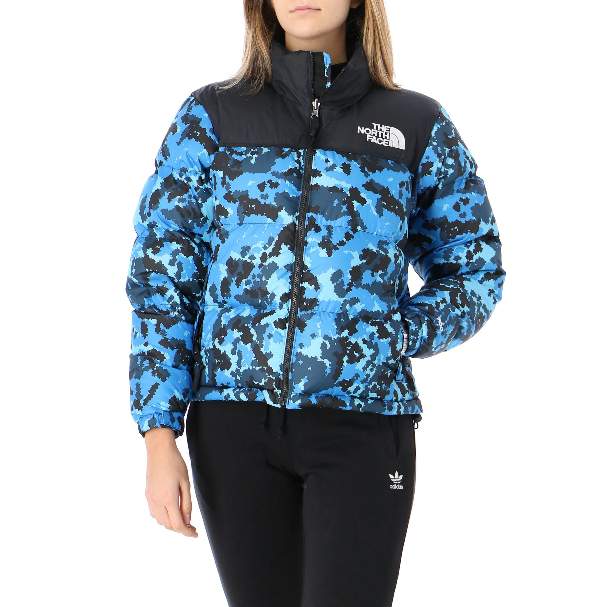 The North Face W 1996 Retro Nuptse Jacket Clear lake blue himalayan camo
