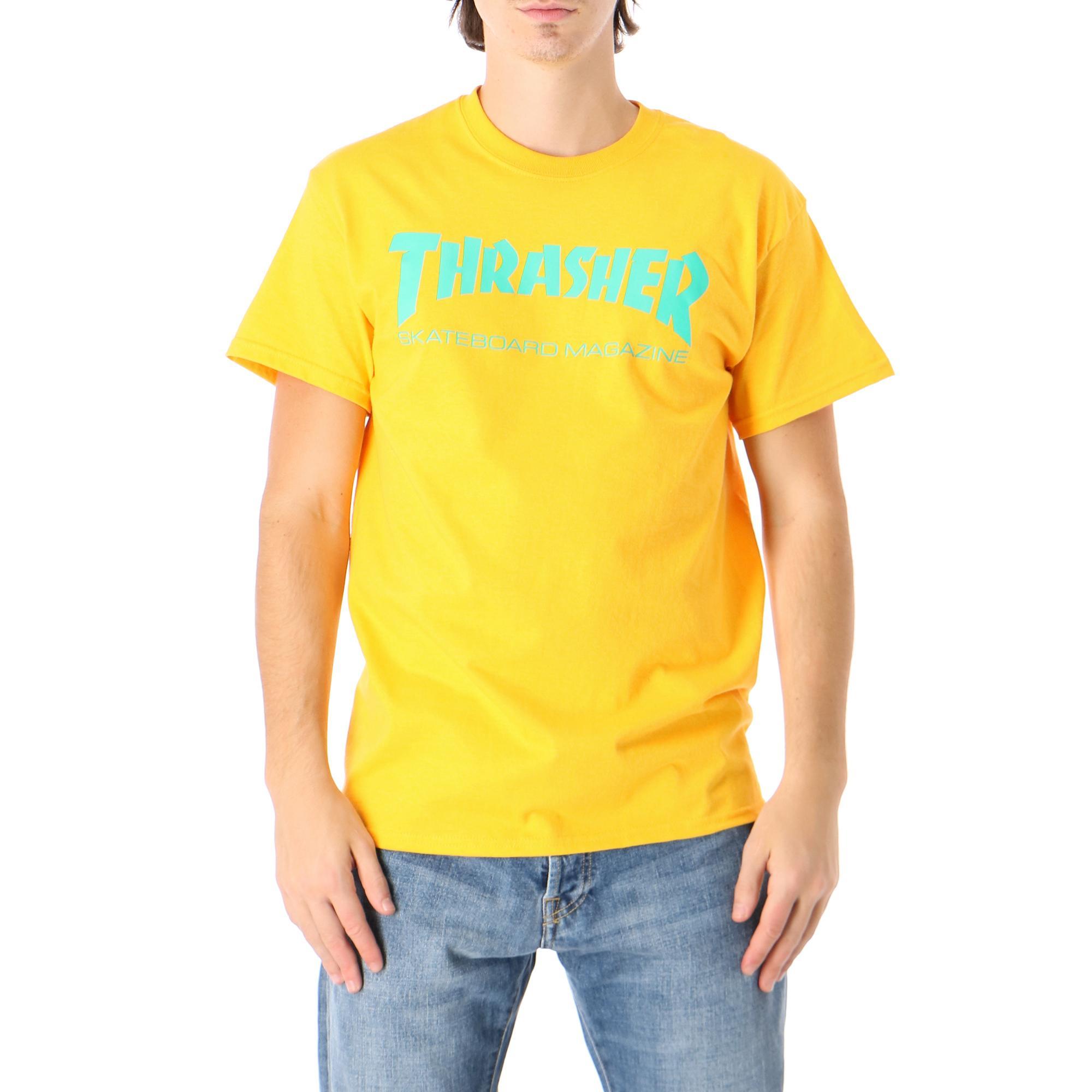 Thrasher Skatemag Tee GOLD