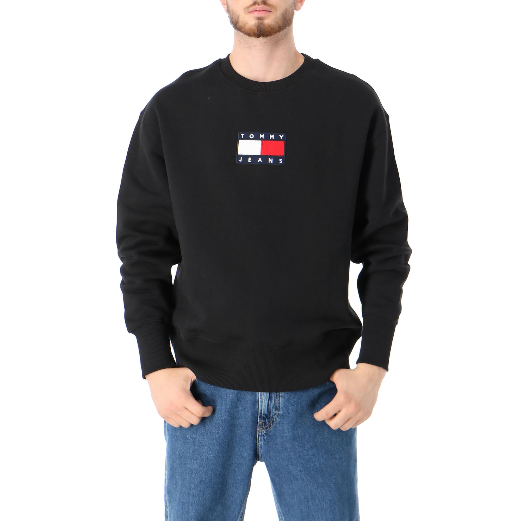 Tommy Hilfiger Tjm Small Flag Crew Black