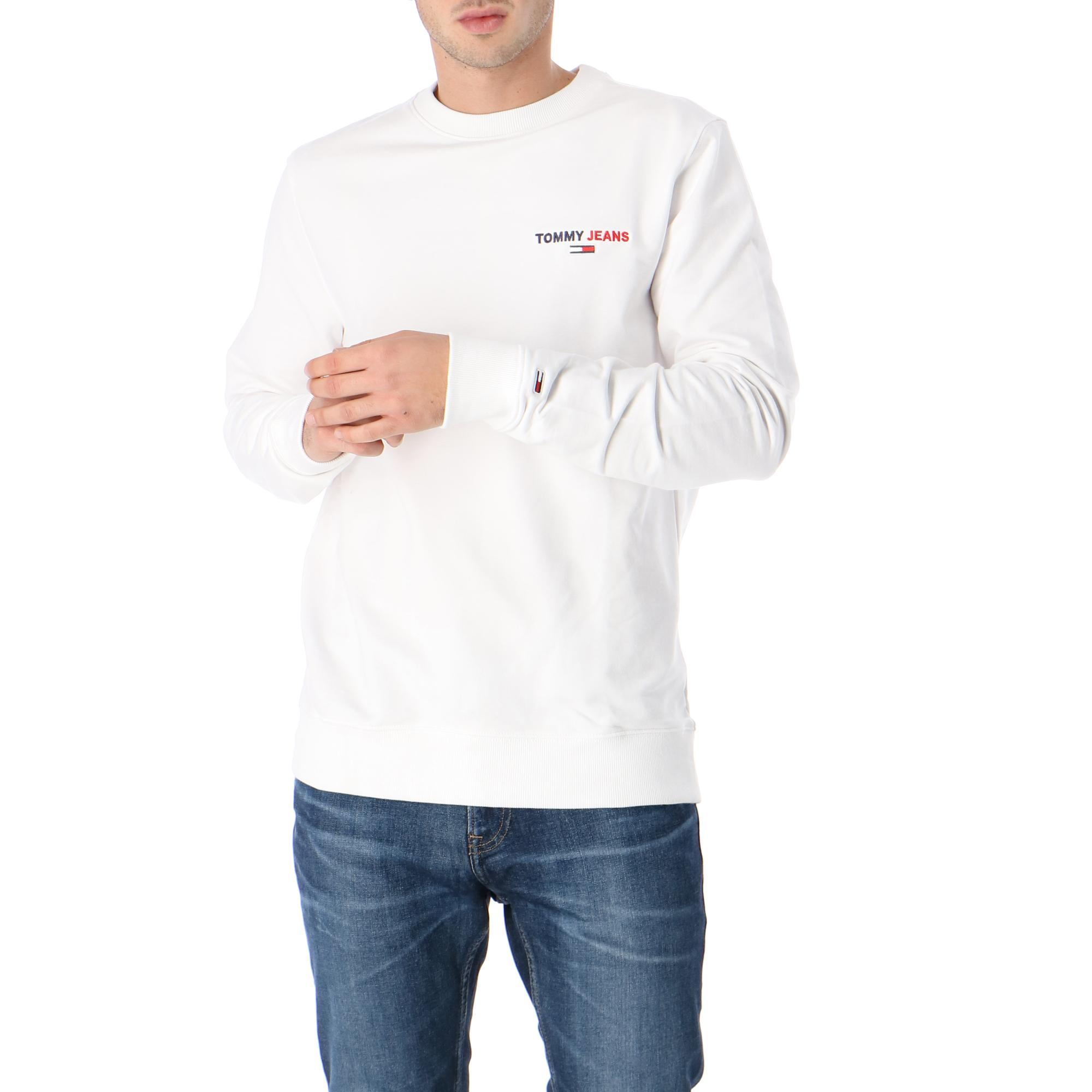 Tommy Hilfiger Tjm Tommy Chest Graphic Crew WHITE