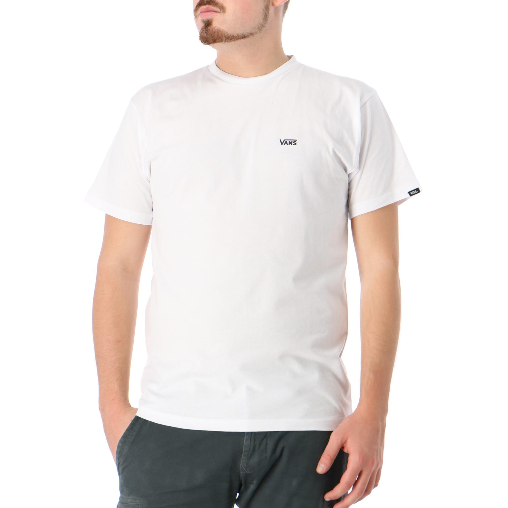 Vans Mn Left Chest Logo Tee White black
