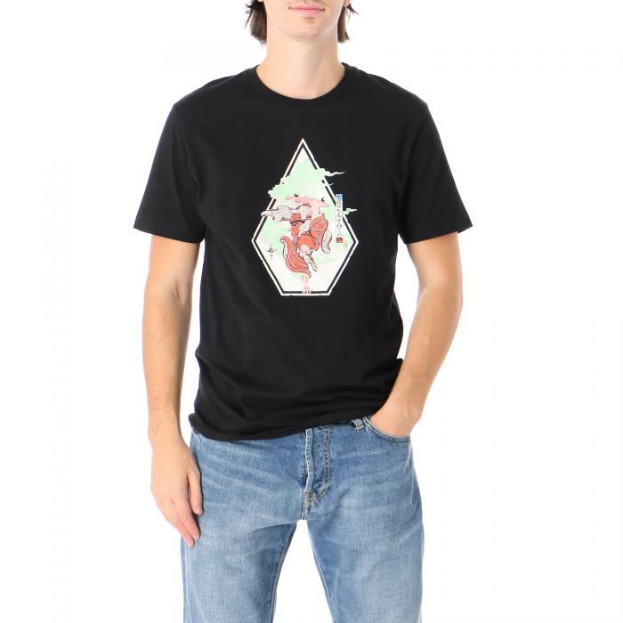 Maglietta a Maniche Corte Uomo Volcom Nozaka Skate SS