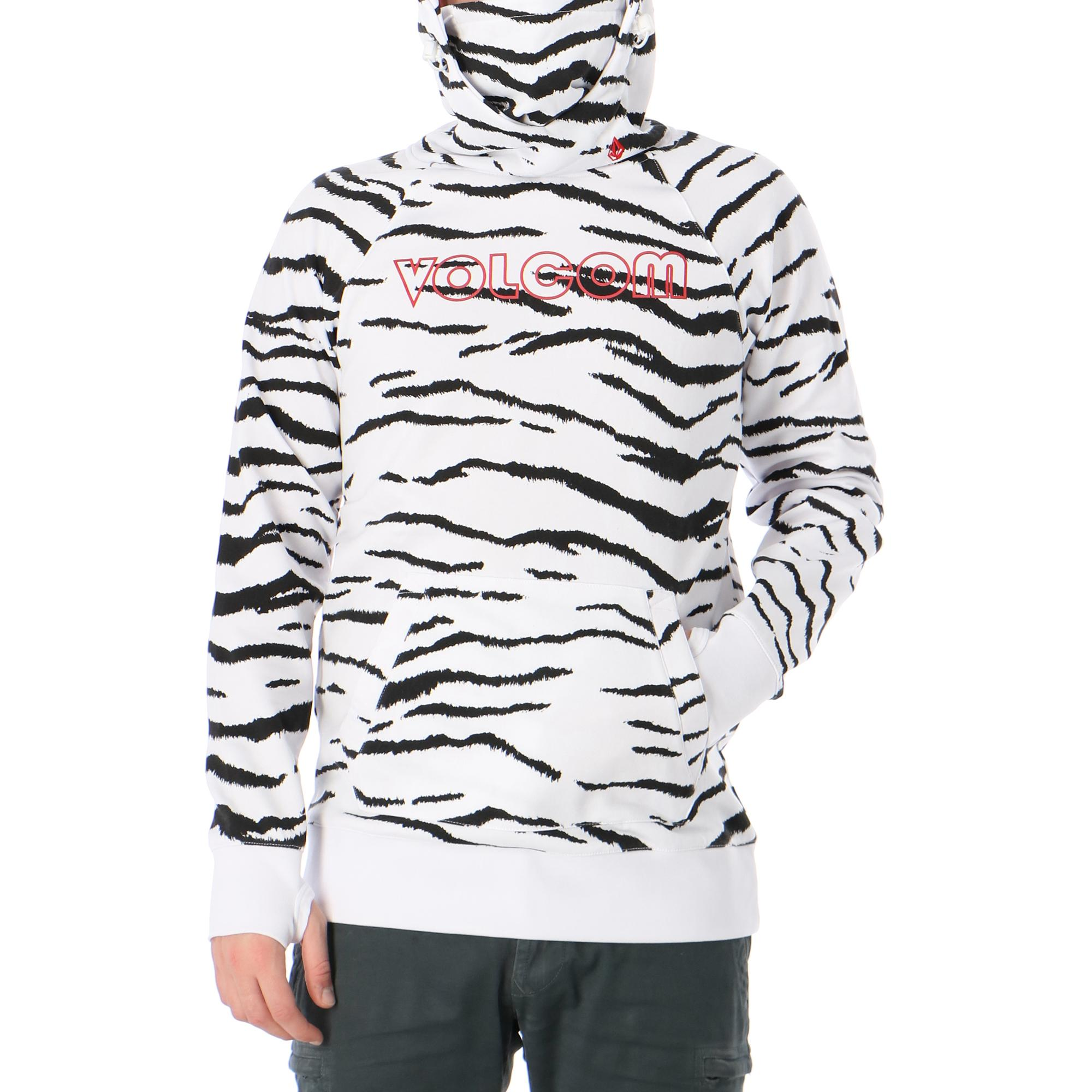 Volcom Hydro Riding Hoodie White tiger