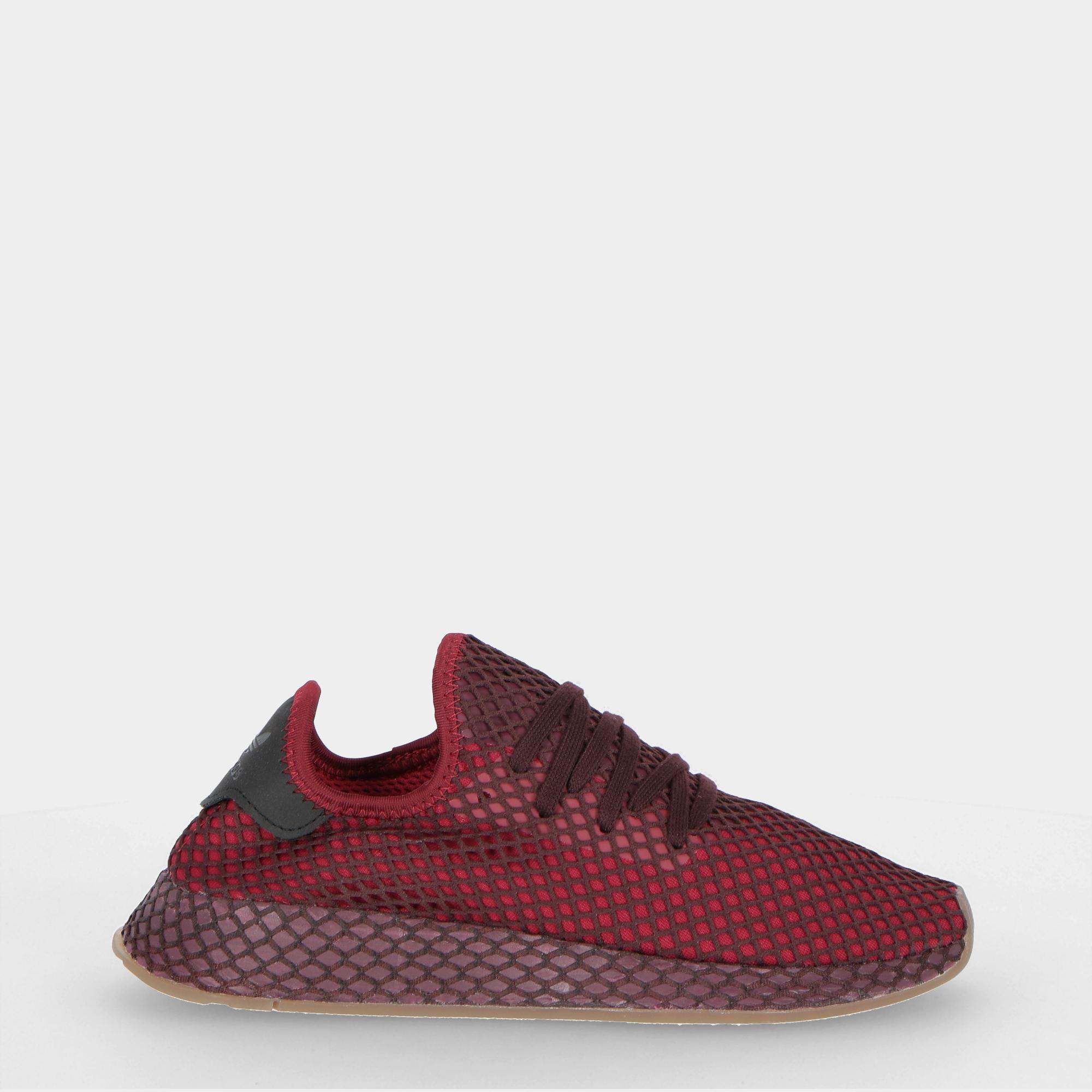 3a8329eafe067 Adidas Deerupt Runner Burgundy Ash Green