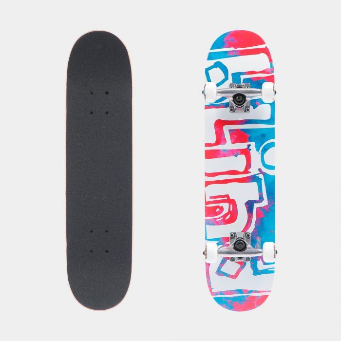 blind skateboard red blue