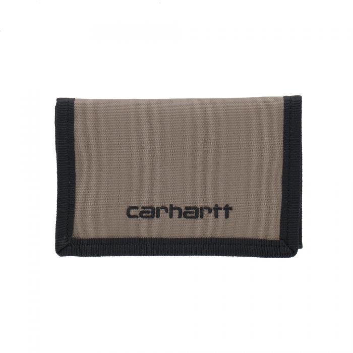 carhartt portafogli e portachiavi brass/black