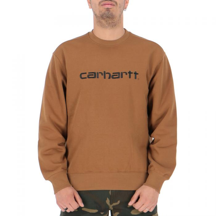 carhartt felpa girocollo hamilton brown/black