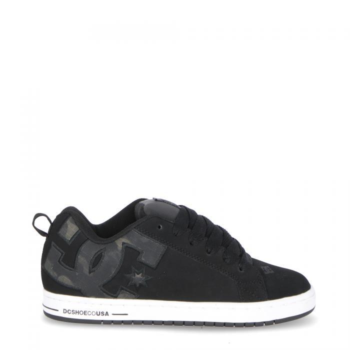 dc scarpe skate black camo
