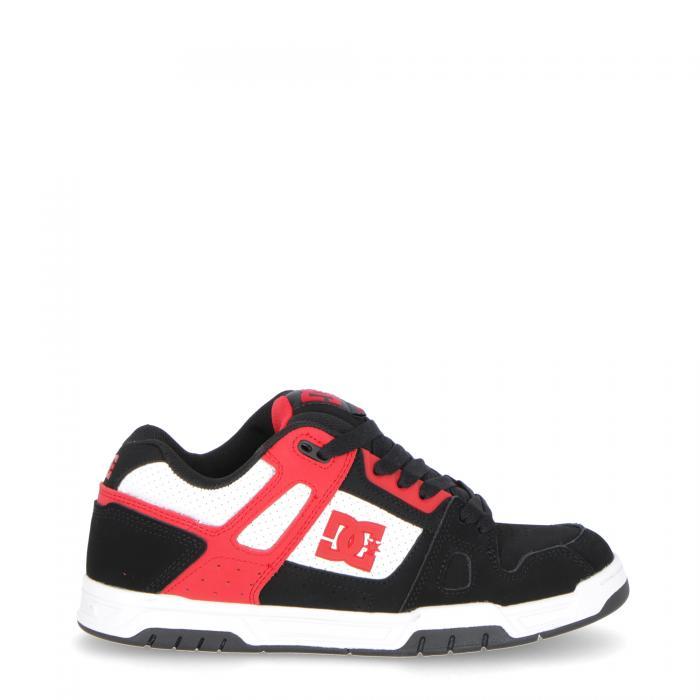 dc scarpe skate blk red wht