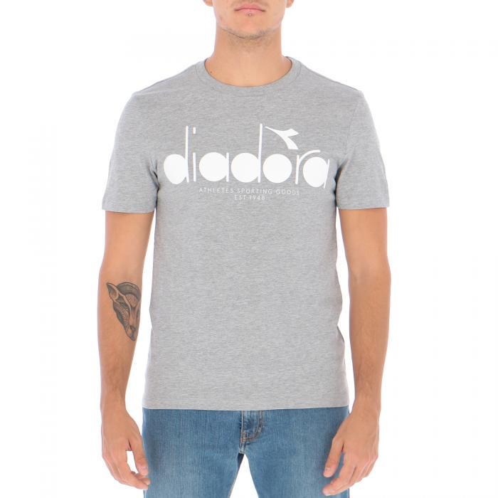 diadora t-shirt e canotte light middle grey melange cff84da0813