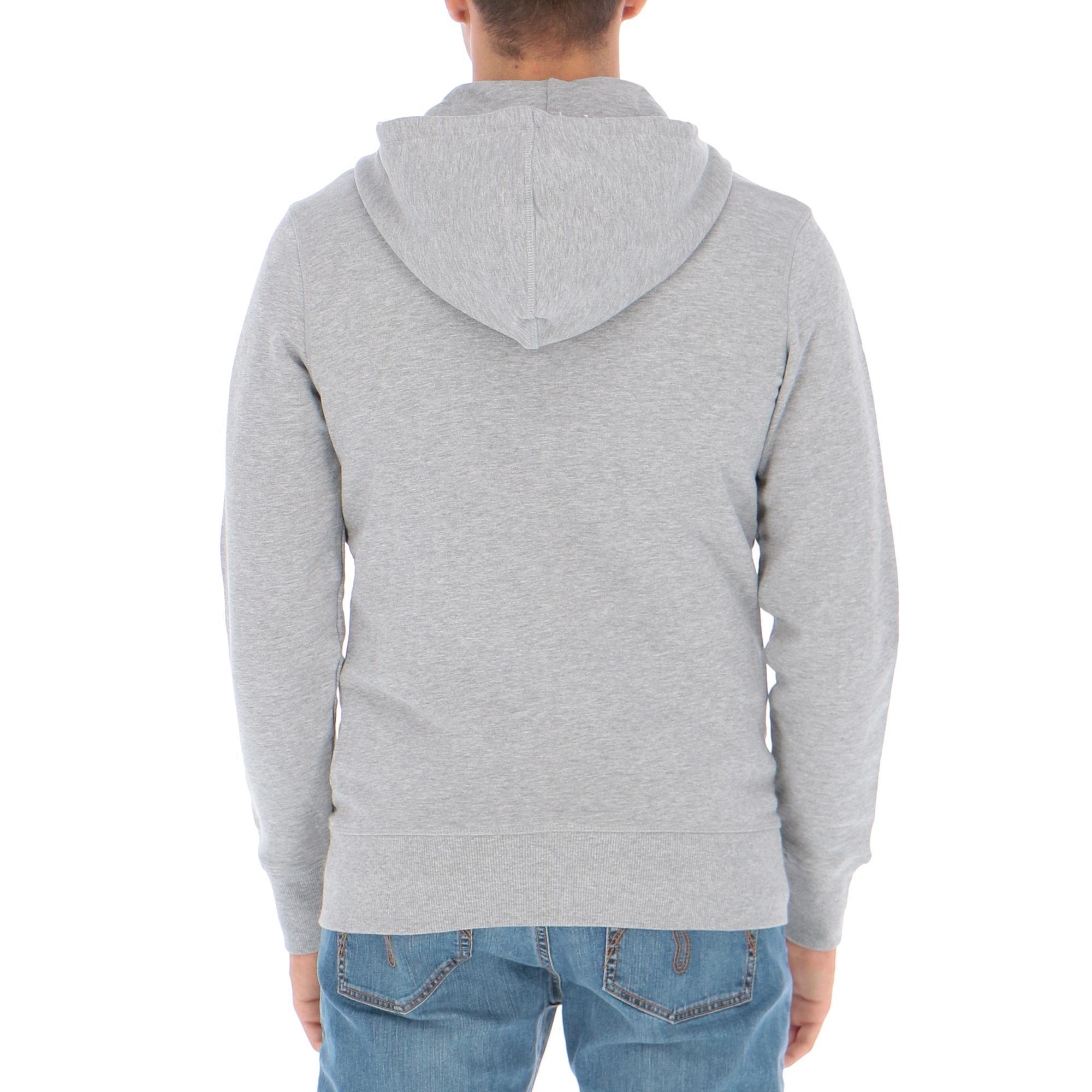 Hoodie Grey Middle 5palle Light Zip Diadora Melange 8Twq7q