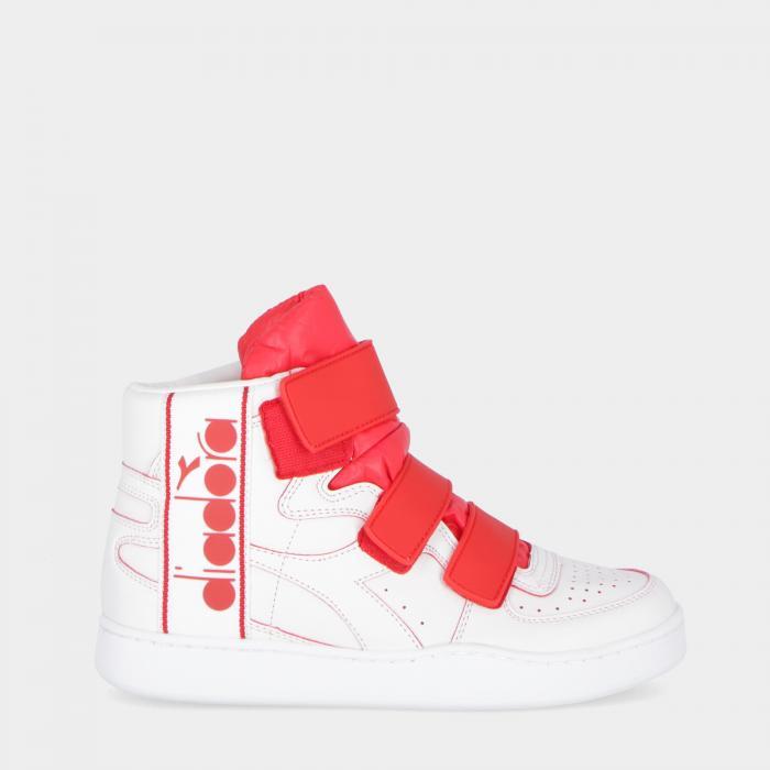 diadora scarpe basket white red