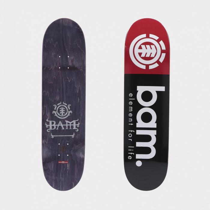 element skateboard black red