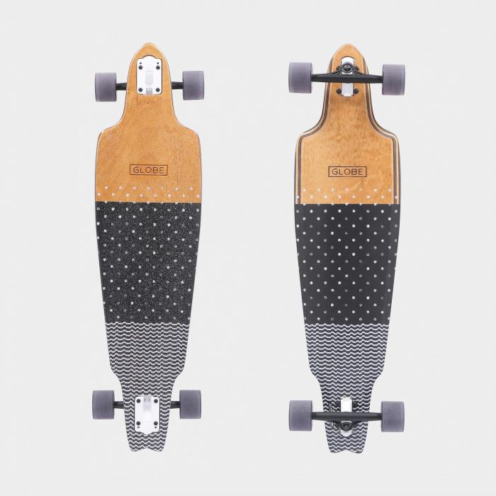 globe longboard dot wave