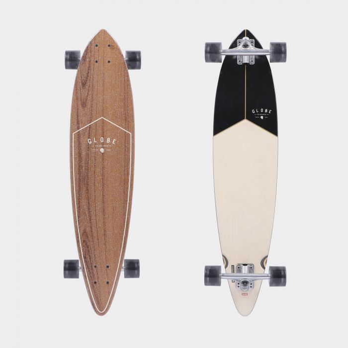 globe longboard tea black