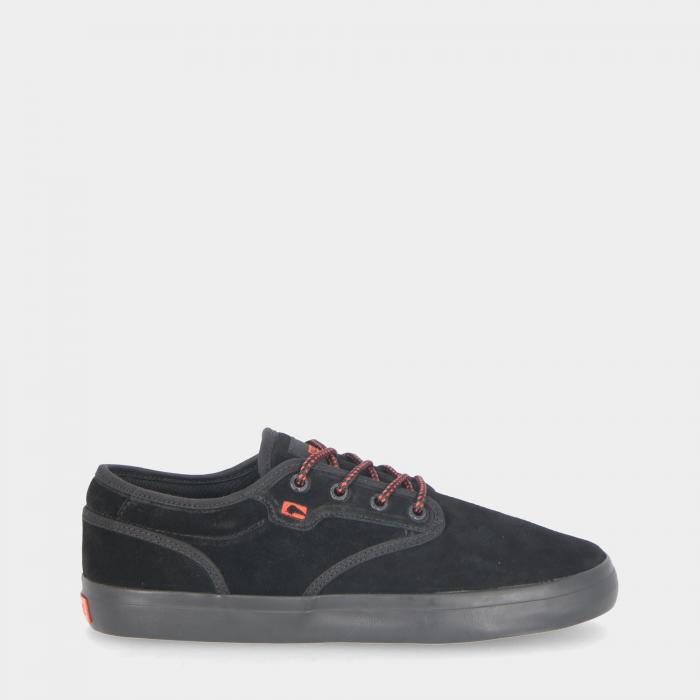 globe scarpe skate blk suede red
