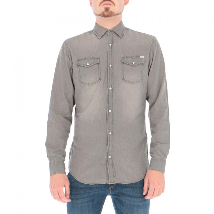 jack & jones camicie light grey denim